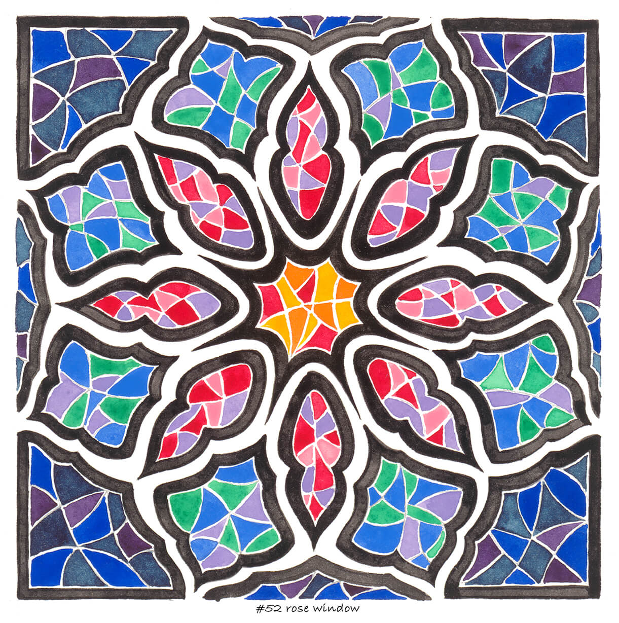 #52 rose window